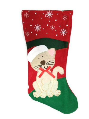 Animal Christmas Stockings - Cat
