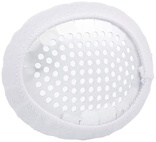 Pivit Fox Aluminum Eye Shield with Protective Cloth Cover | For Use On Either Left Or Right Eye | Perforated For Air Circulation | Soft White Cotton Cover Is Gentle On Skin