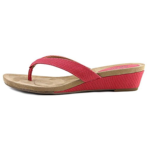 Womens Open CKretITtcs Slide Sandals Red amp; Casual hot Toe Style Haloe2 RIOwEqq