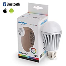 ChiChinLighting® E26 7w Bluetooth LED Bulb E27 Bluetooth LED Light Bulb RGB Dimmable LED Smart Bulb Controlled by IOS Apple Iphone Ipad Android Samsung HTC Bluetooth Bulb