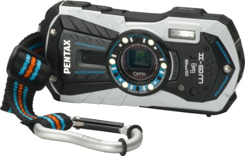 S White Adventure Series 16 MP Waterproof Digital Camera with 5 X Optical Zoom and GPS ()
