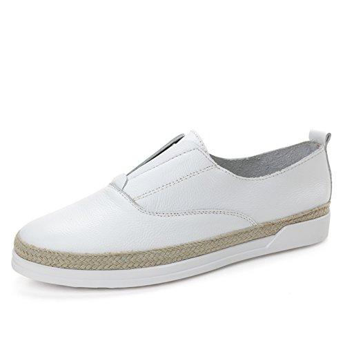 Primavera Joker Lok Fu Zapatos De Cuero,Casuales Zapatos,Zapatos De Mujer De Estilo Coreano,Zapatos Completamente Planos A