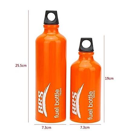 Tactical Area Kraftstoff Flasche 0.53//0.75L Sicherheitsherd Benzin Alkohol Fl/üssig Gas /Ölbeh/älter f/ür Outdoor Camping