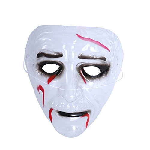 BESTOYARD Transparent Zombie Mask Halloween Party Mask for Spirit Ghost Festival Decoration (Bleed)]()
