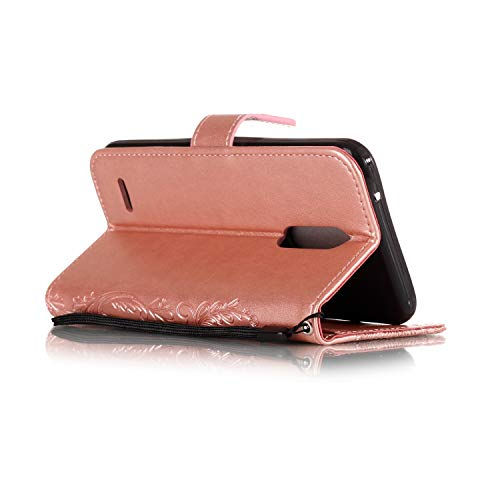 AIIYG DS,LG K30 Case,LG Premier Pro LTE/Phoenix Plus Wallet Case,Classic 3D Mandala Pattern [Kickstand Feature] Flip Folio Leather Wallet Case with ID and Credit Card Pockets For LG K10 2018/Rose Gold by AIIYG DS (Image #3)