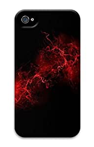 abstract black PC Case for iphone 4S/4