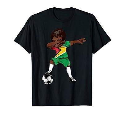 Dabbing Soccer T-Shirt Boy Guyana Guyanese Georgetown Gifts