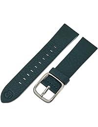 b&nd by Hadley Roma Unisex BND200RJ 200 Mode Leather 22mm Calfskin Green Watch Strap