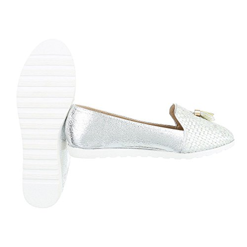 Ital-Design - Tobillo bajo Mujer plata
