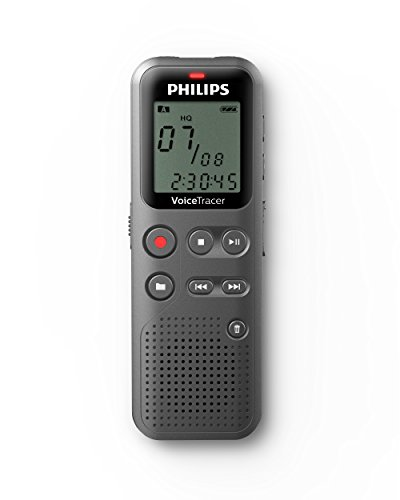 Philips DVT1110 Digital VoiceTracer Audio Recorder, Digital Notes Recording, 4 GB, PC Connection, Grey (Philips Tape Recorder)