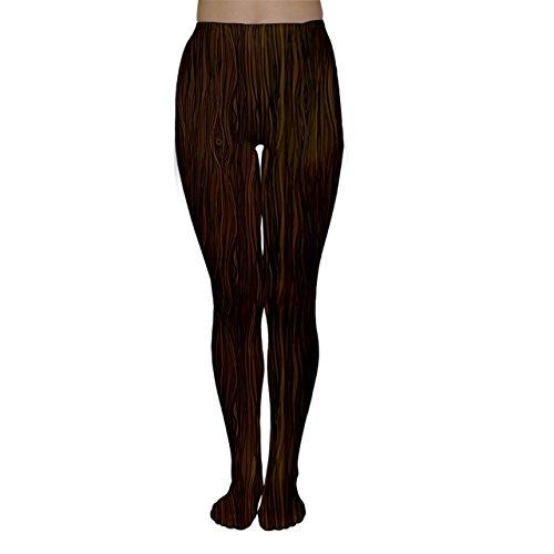 役職トンネルダースCowcowレディースブラウン抽象フラット木製木製パターンタイツ カラー: ブラウン