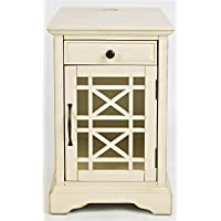 Chairside Table in Antique Cream Finish