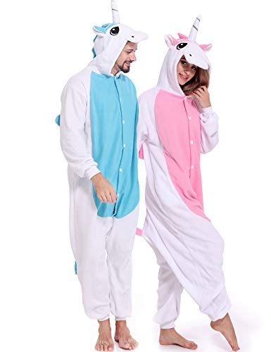 Adult Onesies Unicorn Pajamas Animal Halloween Costume One Piece Cosplay for Women Men