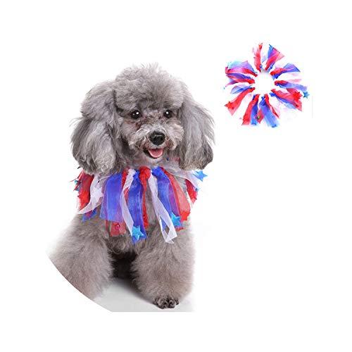 ZZmeet Cute Dog Colorful Tassel Collar Christmas Ribbon