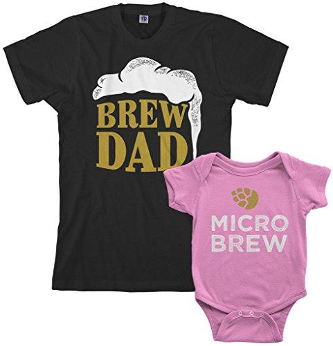 Threadrock Brew Dad & Micro Brew Infant Bodysuit
