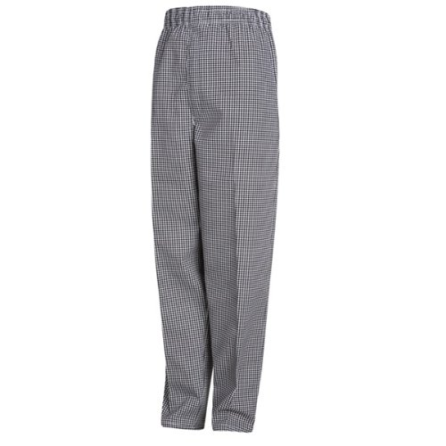 Chef Designs Red Kap Men's Baggy Chef Pantwith Zipper Fly, Black/White Check, X-Small by Chef Designs