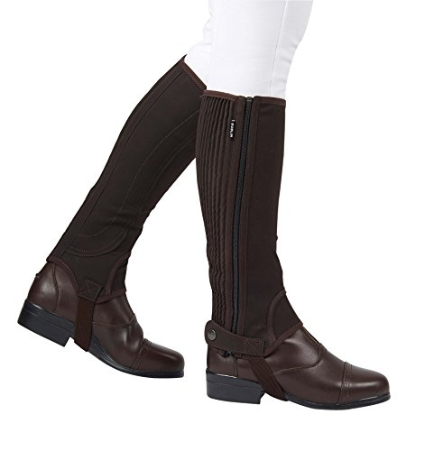 Dublin Easy-Care Half Chaps II Black Adults (Ladies Black Chaps)