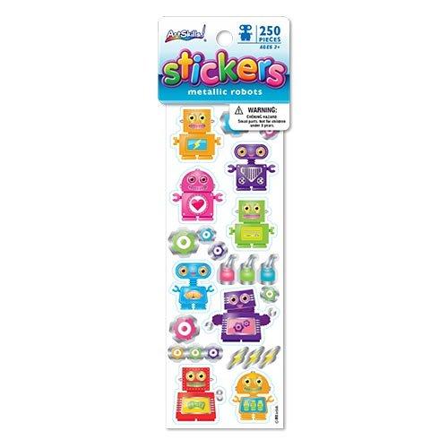 [ArtSkills Stickers, Robots, 250 Count (PA-2291)] (Robot Sticker)