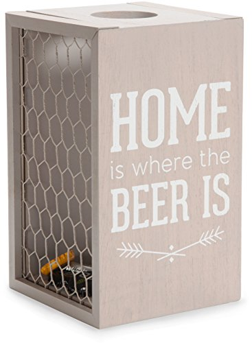 Man Crafted - Home is Where the Beer is Chicken Wire Bottle Cap Collector