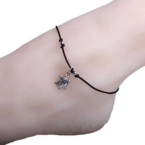 - Hatoys Women's Vintage Bracelet Jewelry Turtle Beach Foot Chain Anklets (Sliver -B)