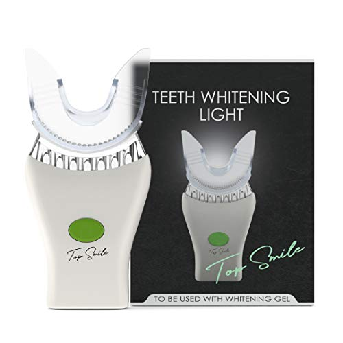 TopSmile Teeth Whitening Accelerator - Powered by x7 Blue LED Lights + Vibration System - Boost Effects of White Stripes, Gel Syringes, Dental Whitening Kit Treatments - Whiten Teeth Faster