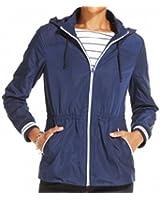 Tommy Hilfiger Women's Hooded Drawstring Jacket Blue XL