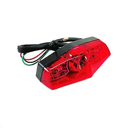 Amazon.com: Luz LED de freno para motocicleta de 12 V ...