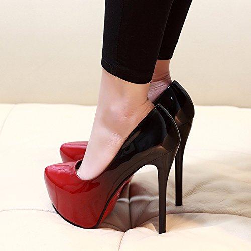 Di Club Sexy Con Di Girl Night Tacco Alti donna Show 14Cm Sky estive scarpe da Scarpe Sottile Resistente High Odio gules Singolo GTVERNH Scarpa Super All'Acqua Piattaforma Tacchi Scarpe vw6xFnq