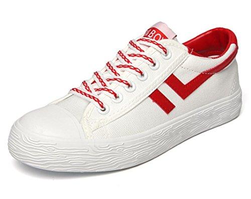 Studenti Leisure Due Colori Red Xie Flat Canvas Permeability Blue Cinghia Shoes 39 Movimento Confortevoli Bottom Summer Anteriore 39 Lady nO6Pvg