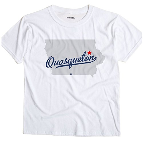 Quasqueton Iowa IA MAP GreatCitees Unisex Souvenir T Shirt