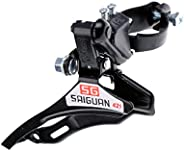 Jili Online 31.8mm Clamp-On Front Derailleur Bottom/Top Pull MTB Mountain Bike Bicycle