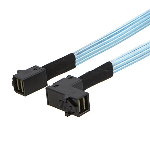CableCreation Angled Internal Mini SAS HD Cable, Mini SAS SFF-8643 to SFF-8643 Cable, 0.5M by CableCreation