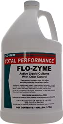 Flo-Kem 5195 Flo-Zyme Bio-Enzyme Drain Opener/Deoderizer with Pleasant Scent, 1 Gallon Bottle, Milky White