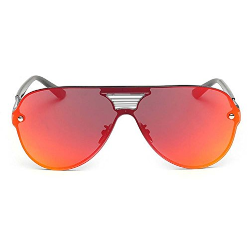 LOMOL Fashion Trendy Metal Frame Reflective Lens UV Protection Personality - Persol To Sunglasses Where Buy