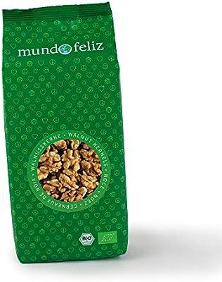 Mundo Feliz - Nueces orgánicas partidas por la mitad, 3 bolsas de 300 g: Amazon.es: Alimentación y bebidas