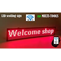 LED display RED color with WiFi connection , LED scrolling message sign, BRIGHT and in new light auminum housing