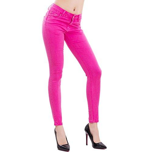 Skinny Vaqueros Fucsia Mujer Toocool para 5zYfwB