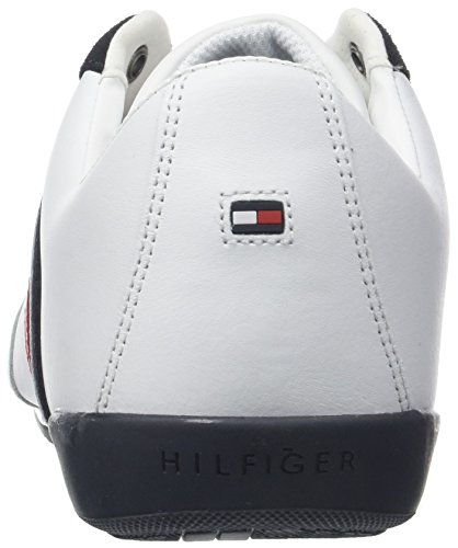 Sneakers Homme Blanc 100 Basses Tommy Cupsole Hilfiger Corporate Material White Mix PXc80q