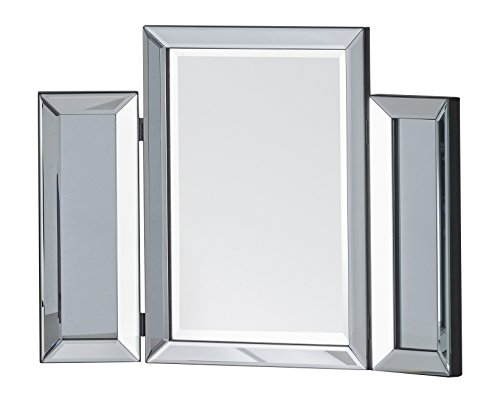 - Julian Bowen Soprano Folding Dressing Table Mirror, Glass, Clear Bevelled, 50 x 65 x 2 cm