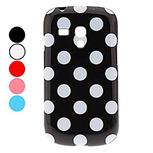 Stylish Dots Pattern Soft Case for Samsung Galaxy S3 Mini I8190 (Assorted Colors) --- COLOR:Black