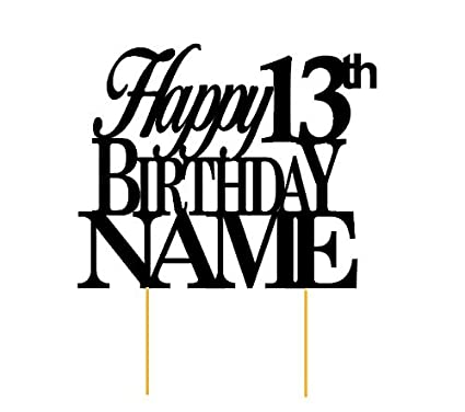 Image Unavailable Not Available For Color All About Details Happy 13th Birthday Cake Topper