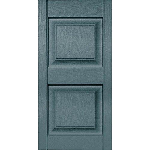 Wedgewood Shutters (15 in. Vinyl Raised Panel Shutters in Wedgewood Blue - Set of 2 (14.75 in. W x 1 in. D x 43 in. H (5.28 lbs.)))