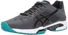 ASICS Men's Gel-Solution Speed 3 Tennis Shoe, Dark Grey/Black/Lapis, 6.5 Medium US
