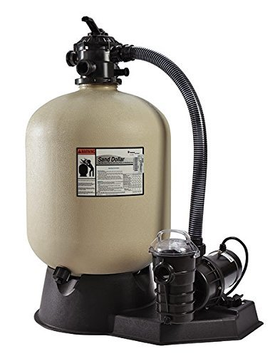 Pentair PNSD0040DO1160 Sand Dollar Aboveground Filter System with Blow-Molded Tank, 1-1/2 HP ()
