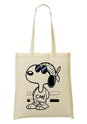 Snoopy Joe Cool Blue Sunglasses Bolso De Mano Bolsa De La Compra