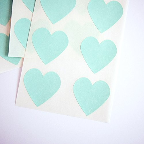 Once Upon Supplies Wedding Bridal Shower Invitation Seals 1.5 X 1.5, Mint Green, 48 Pcs