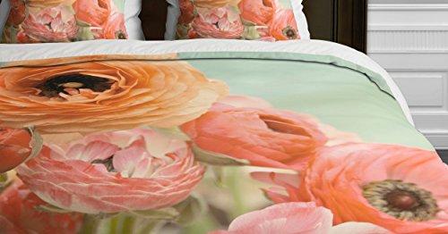 Deny Designs Bree Madden Spring Ranunculus Duvet Cover, Queen ()
