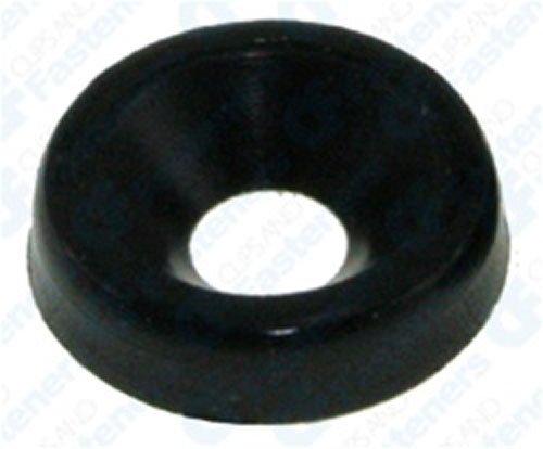 50 #6 Nylon Finishing Washers - Black