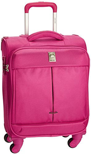Delsey Flight Soft 54Cm Pink Carry-On Trolley Luggage ...