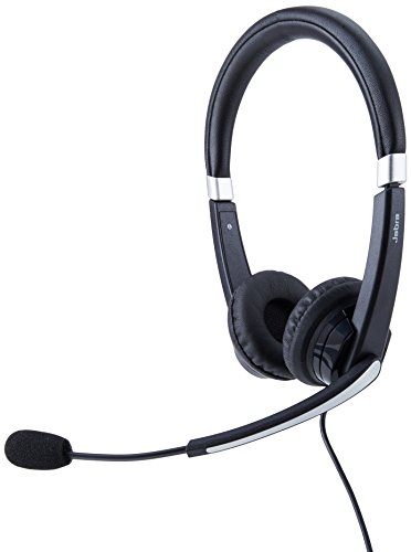 Jabra UC VOICE 550 MS Duo Lync Optimized Corded Headset for Softphone ()